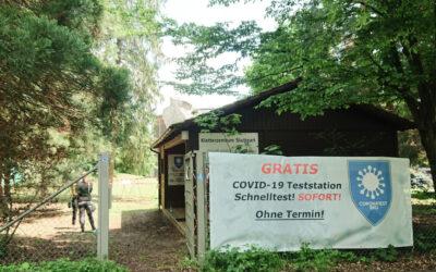 Testcenter vor Ort im Kletterzentrum